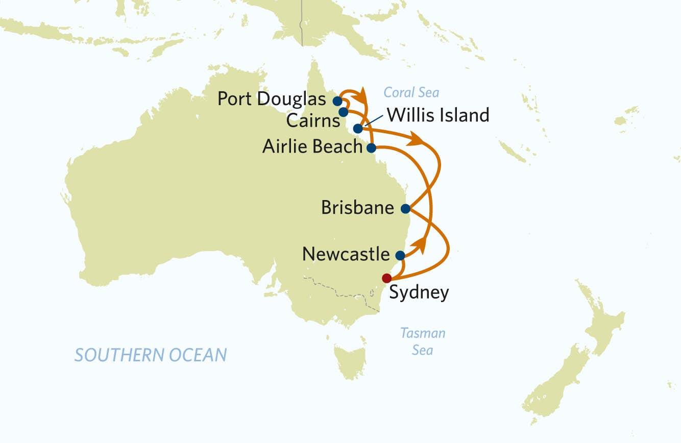 Krydstogt I Australien Oplev Ostkysten Og Great Barrier Reef