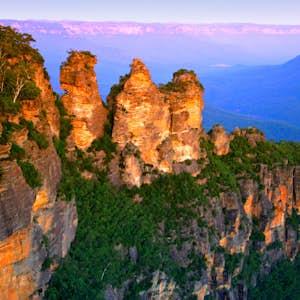 hvor er det varmt i februar australien blues mountain