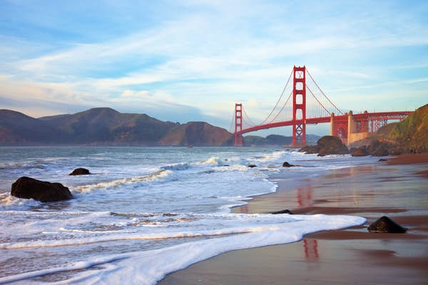Nordvestlige USA kør-selv ferie Golden Gate