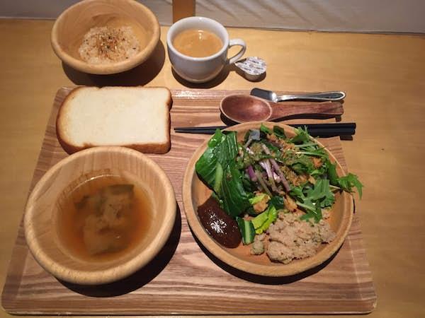 Japansk mad. Grøntsagsbuffet.