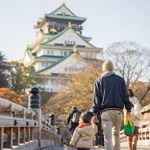 Osaka slottet, Japan med børn