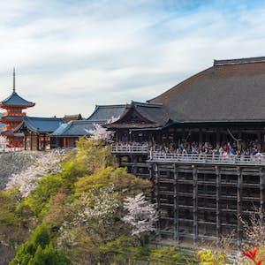 Kyoto. Kiyomizu-dera tempel.