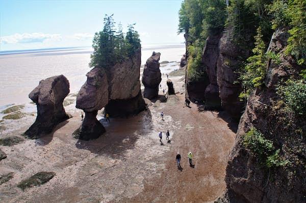 Fundy Bay, østlige Canada